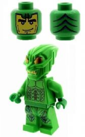 Green Goblin with Gold Eyes (Spiderman) - Custom Designed Minifigure